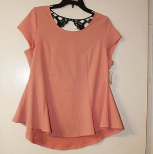❤SALE Lace Bow Back Flare Top